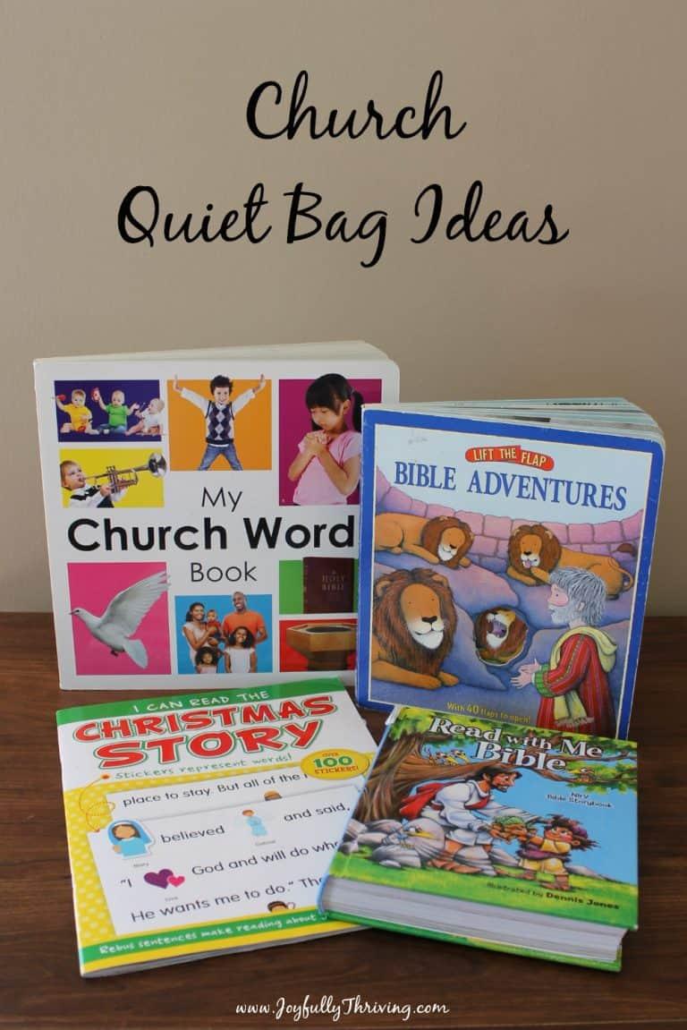 Church Quiet Bag Ideas