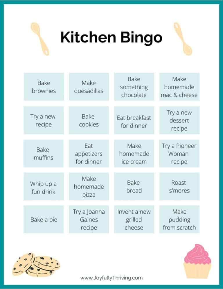 Easy Kitchen Bingo