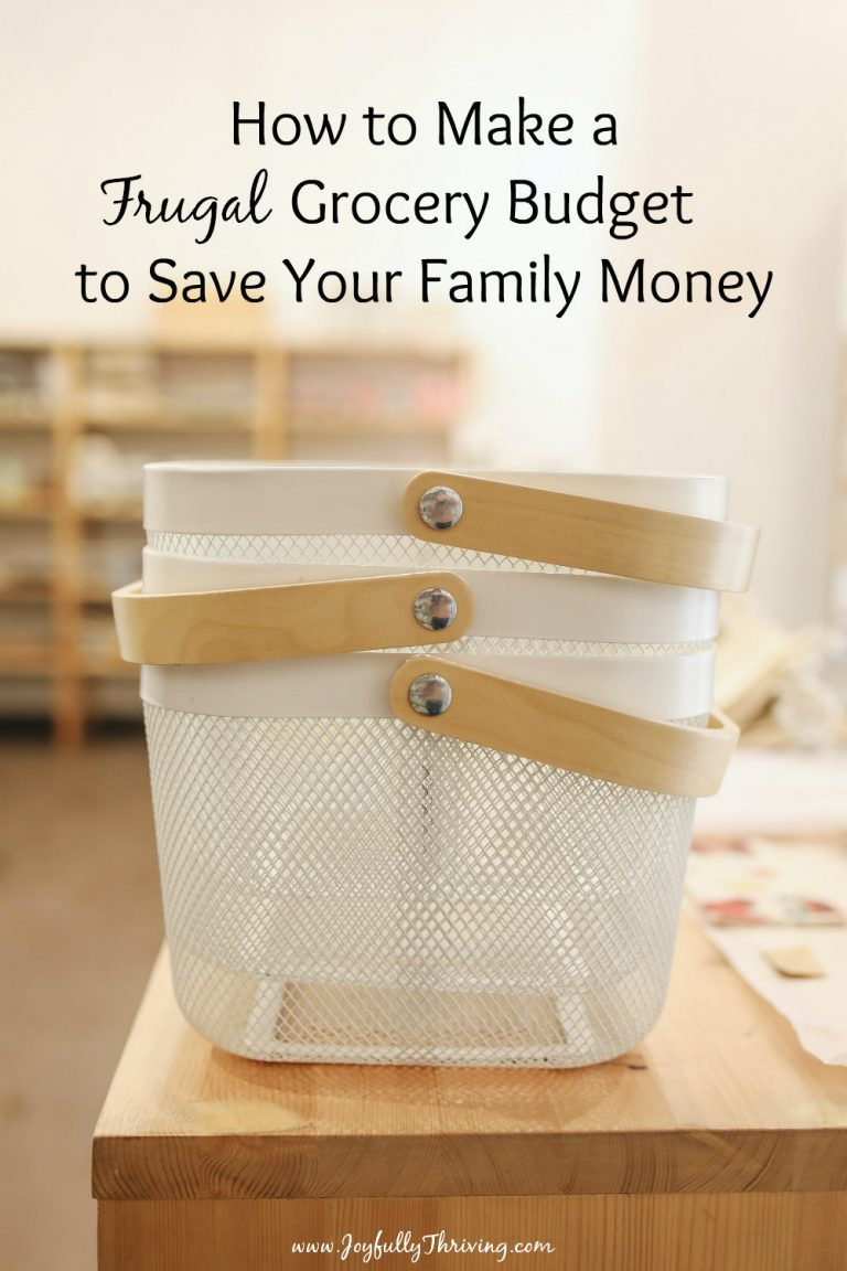 How to Make a Frugal Grocery Budget