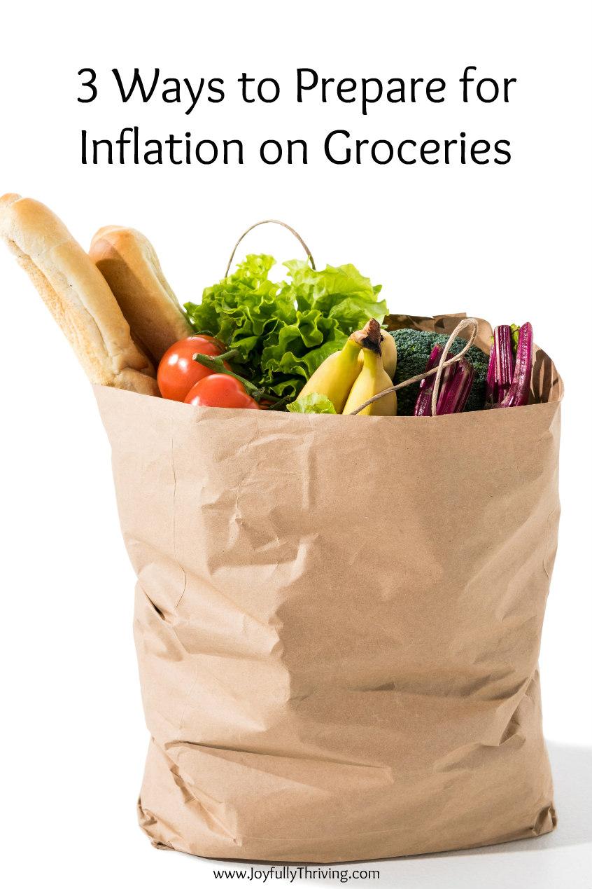 A paper bag full of groceries