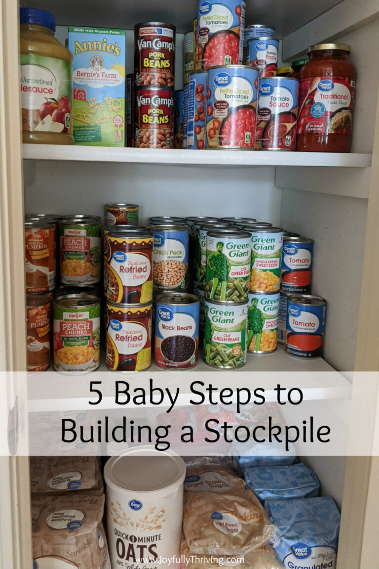 5 Baby Steps of Stockpiling